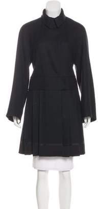 Prada Pleated Wool Coat