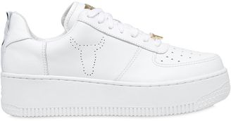 50mm Racer Leather Sneakers $184 thestylecure.com