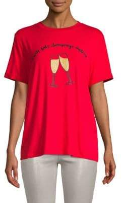 Glittered Champagne Graphic T-Shirt