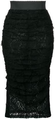 Dolce & Gabbana ruffled lace skirt