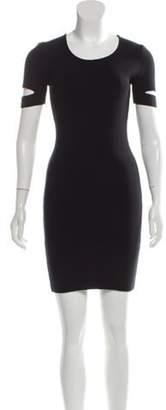 Alexander Wang Short Sleeve Knit Dress Black Short Sleeve Knit Dress