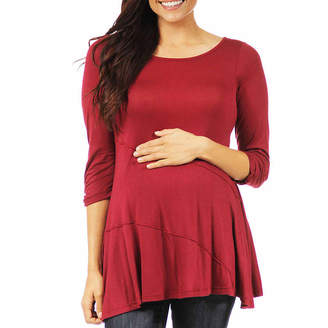 24/7 Comfort Apparel Womens Knit Blouse-Maternity