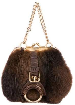Dolce & Gabbana Mink & Snakeskin Evening Bag
