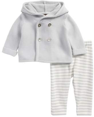 Tea Collection Hooded Knit Jacket & Pants Set