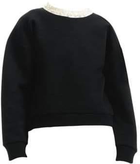 Maje Faux Pearl-Embellished Sweatshirt