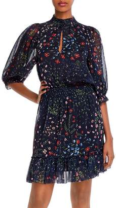 Joie Shima Floral-Print Ruffled Dress