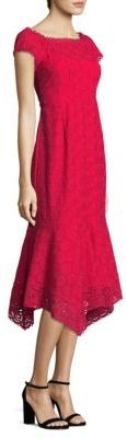 Nanette Lepore Fall For You Eyelet Midi Dress $548 thestylecure.com