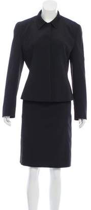 Prada Satin Two-Piece Skirt Suit