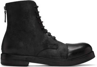 Marsèll Black Zucca Zeppa Boots