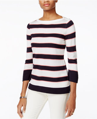 Tommy Hilfiger Striped Sweater, Only at Macy's $69.50 thestylecure.com