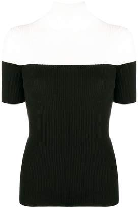 Paule Ka two-tone sweater