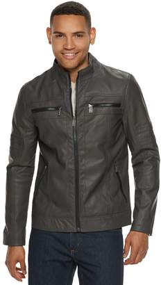 Urban Republic Men's Faux-Leather Biker Jacket