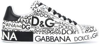 Dolce & Gabbana logo print Portofino sneakers