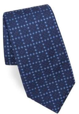 Corneliani Dot-Print Silk Tie