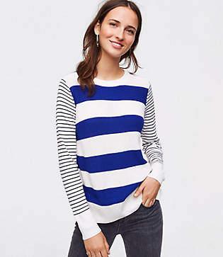 LOFT Petite Mixed Stripe Sweater