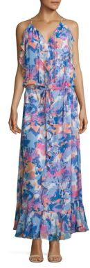 Laundry by Shelli Segal Printed Boho Ruffle Dress $195 thestylecure.com