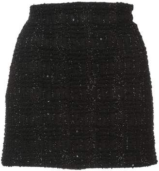 Alice + Olivia Alice+Olivia lamé tweed mini skirt