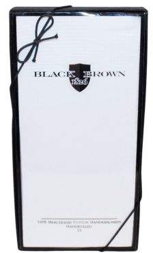 Black & Brown Black Brown White Handkerchiefs - 7-Pack