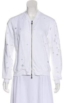 David Lerner Distressed Zip-Up Jacket