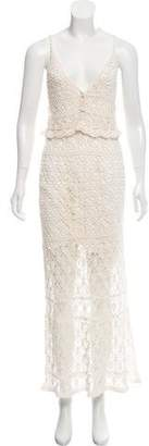 Anna Kosturova Bianca Crochet Dress w/ Tags