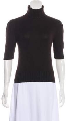 Celine Cashmere Three-Quarter Sleeve Turtleneck