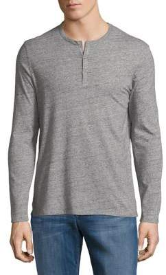 Black & Brown Black Brown Long Sleeve Cotton Henley