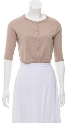 Max Mara 'S Short Sleeve Silk Cardigan