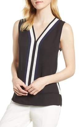Vince Camuto Colorblock Sleeveless Blouse