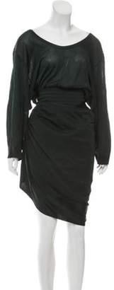 Alaà ̄a Vintage Draped Wrap Dress green Alaà ̄a Vintage Draped Wrap Dress