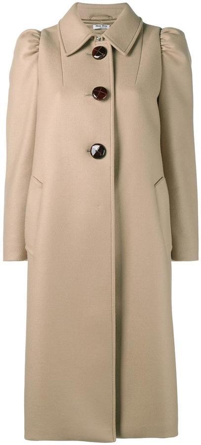 Miu MiuMiu Miu single breasted coat