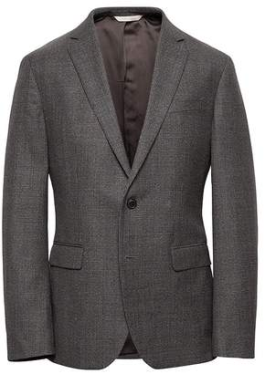 Banana Republic Heritage Slim Plaid Wool Suit Jacket