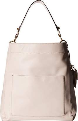 Cole Haan Zoe Bucket Hobo Leather Shoulder Bag