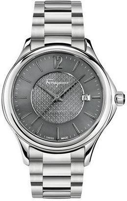 Salvatore Ferragamo Ferragamo Time 41mm Stainless Steel Watch, Gray $1,595 thestylecure.com