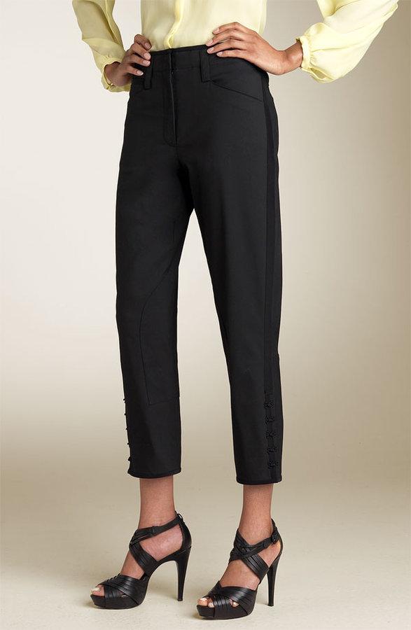 Robert Rodriguez Tuxedo Stripe Jodhpur Pants