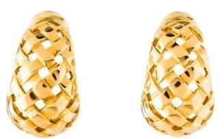 Tiffany & Co. 18K Vannerie Basket Weave Earrings