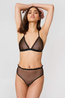 Na Kd Lingerie Frill Edge Dotted Mesh Panty