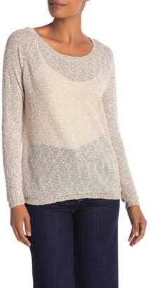 Papillon Crochet Inset Long Sleeve Sweater