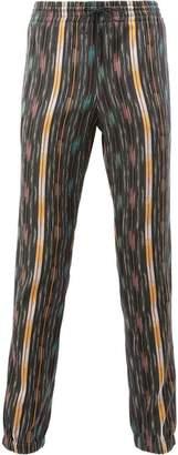 Saint Laurent Ikat pattern casual trousers