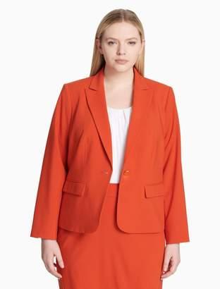 Calvin Klein plus size luxe single button jacket