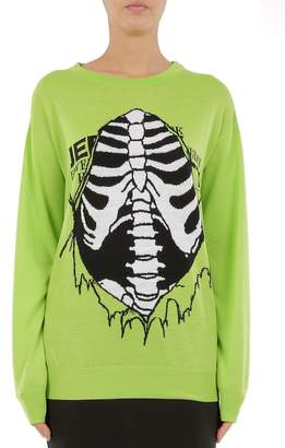 Jeremy Scott Rib Cage Virgin Wool Sweater