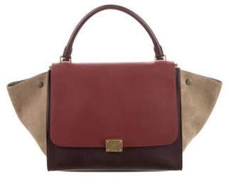 Celine Tricolor Medium Trapeze Bag plum Tricolor Medium Trapeze Bag