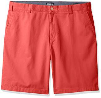 Nautica Men's Cotton Twill Flat Front Chino Short