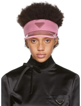 Prada Pink PVC Visor