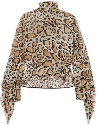 Petar Petrov Leopard-print Silk Crepe De Chine Blouse - Leopard print