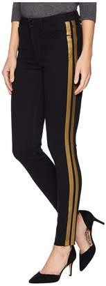Sam Edelman Kitten Mid-Rise Ankle Skinny in Black/Gold Foil