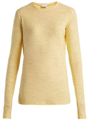 Raey - Long Sleeved Slubby Cotton Jersey T Shirt - Womens - Yellow