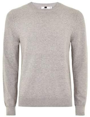 Topman Mens Grey Gray Hem Stitch Sweater