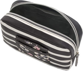 Cath Kidston Breton Stripe Oval Cosmetic Bag with Mirror