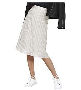 MinkPink Origami Metallic Pleated Skirt