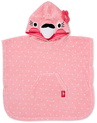 John Lewis Flamingo Spot Towel Poncho, Pink